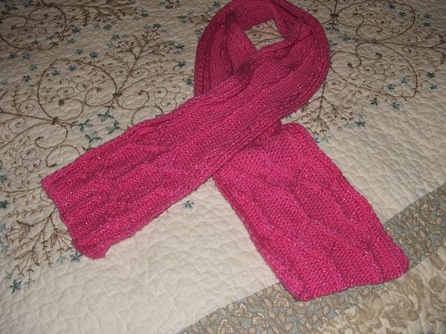 Aylas Pink Sparkle Scarf