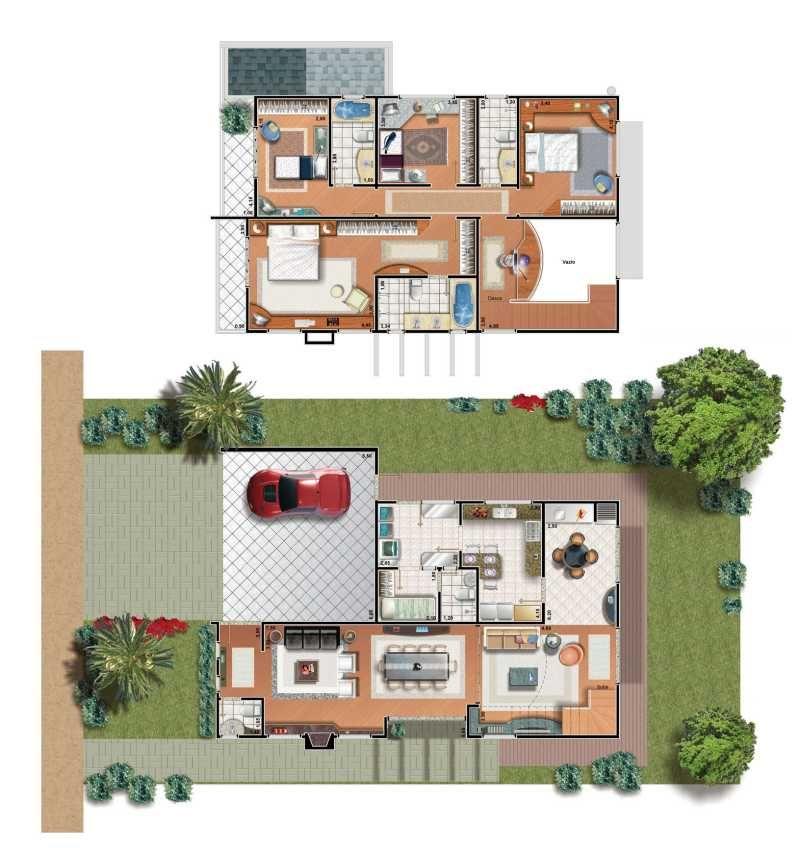 Casa moderna de una planta fachadas casas fotos planta - Casas de una planta ...