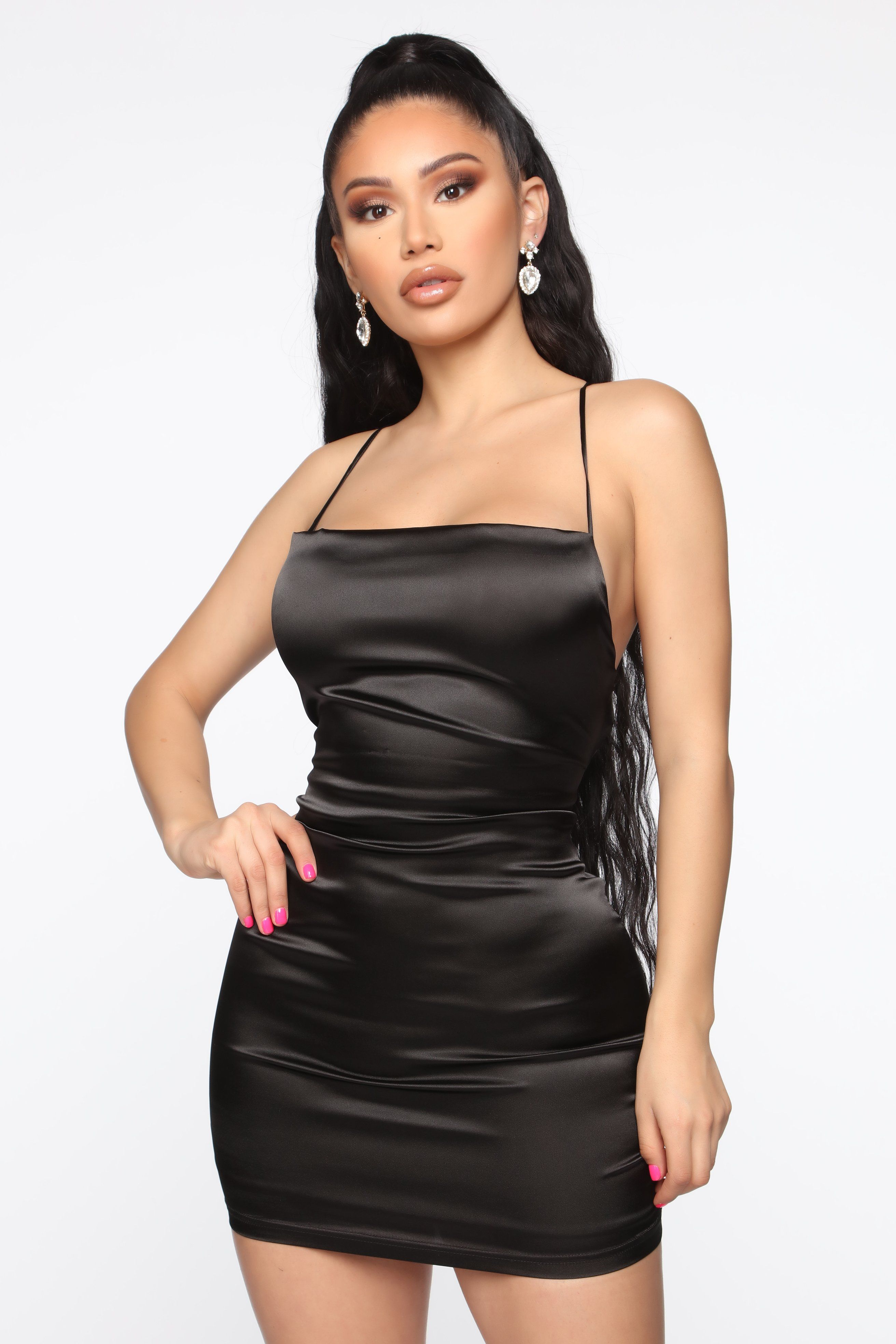 Take Me Higher Satin Mini Dress Black In 2020 Mini Dress Mini Black Dress Black Satin Dress