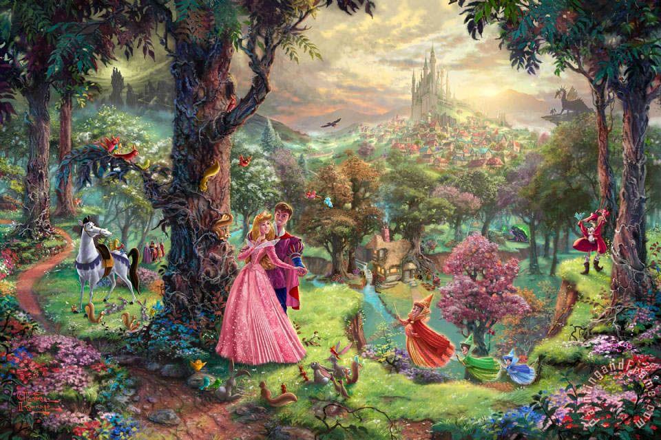 Sleeping Beauty Painting by Thomas Kinkade
