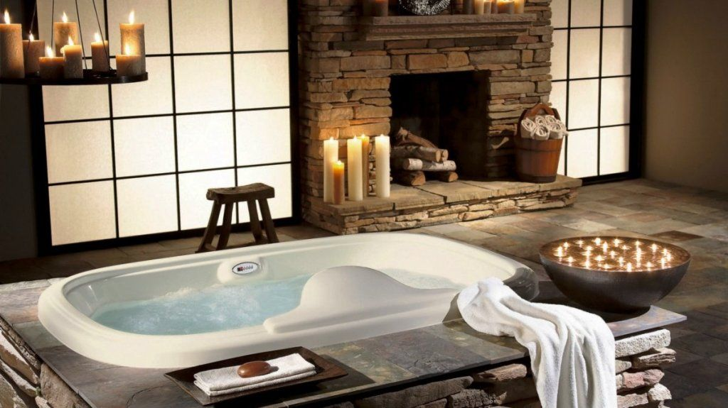 Classic Themed Spa Romantic Bathroom