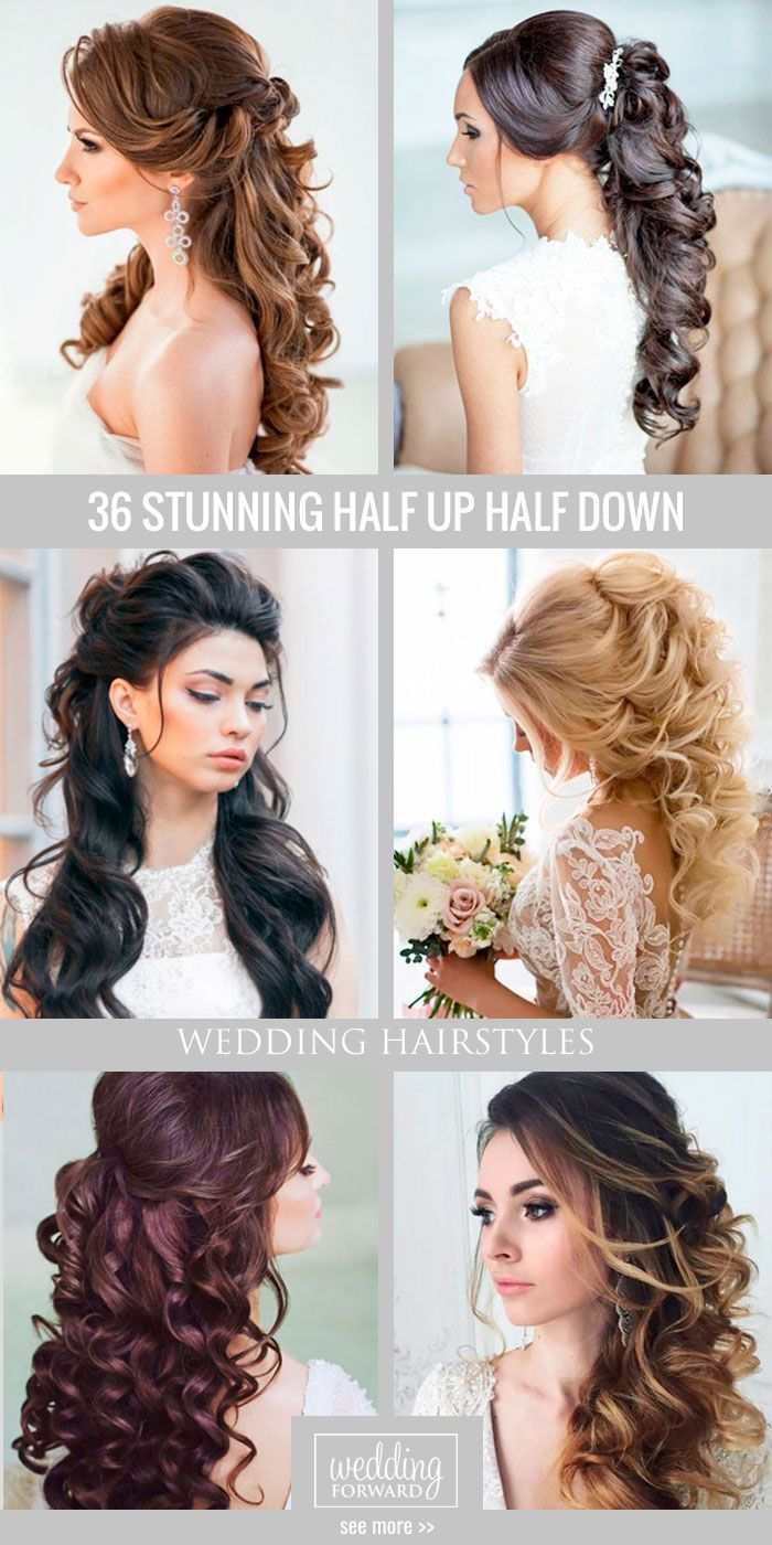36 Stunning Half Up Half Down Wedding Hairstyles Are you looking for ...