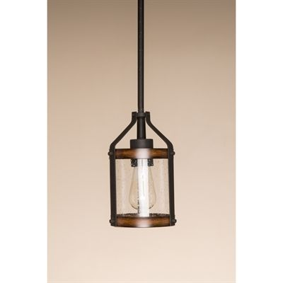 Kichler Lighting Barrington 5.5-in Distressed Black and Wood Rustic Mini Seeded Glass Cylinder Pendant  sc 1 st  Pinterest & Kichler Lighting Barrington 5.5-in Distressed Black and Wood ... azcodes.com