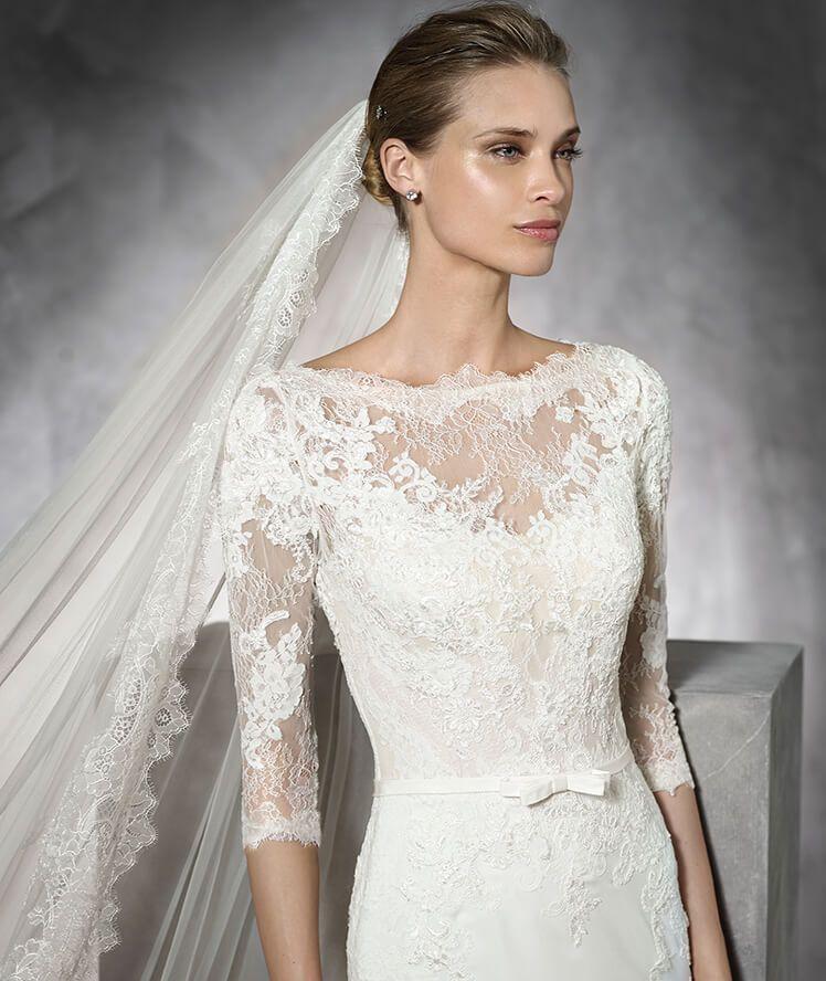TANE - Vestido de novia de color con encaje | Pronovias | vestidos ...
