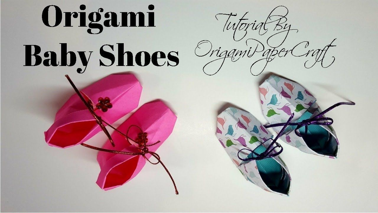 How To Make Origami Baby Shoes