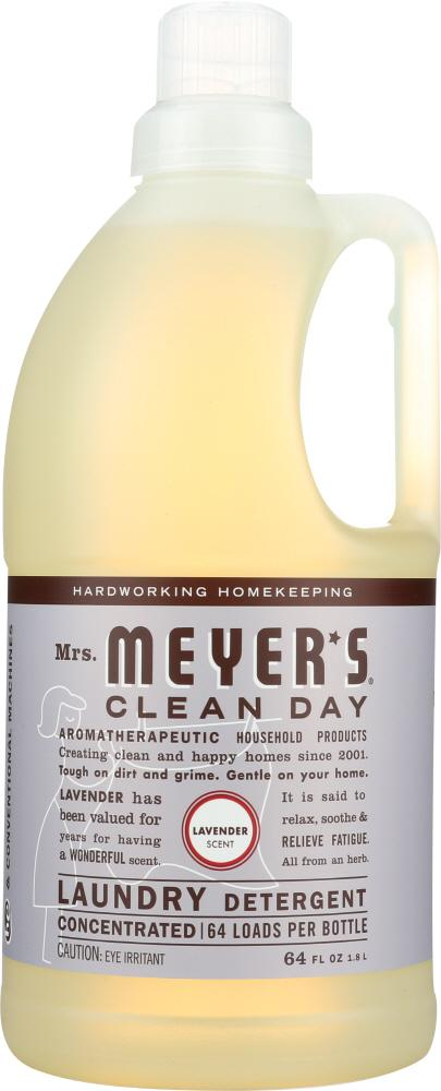 Mrs Meyers Clean Day Laundry Detergent Lavender Scent 64 Oz