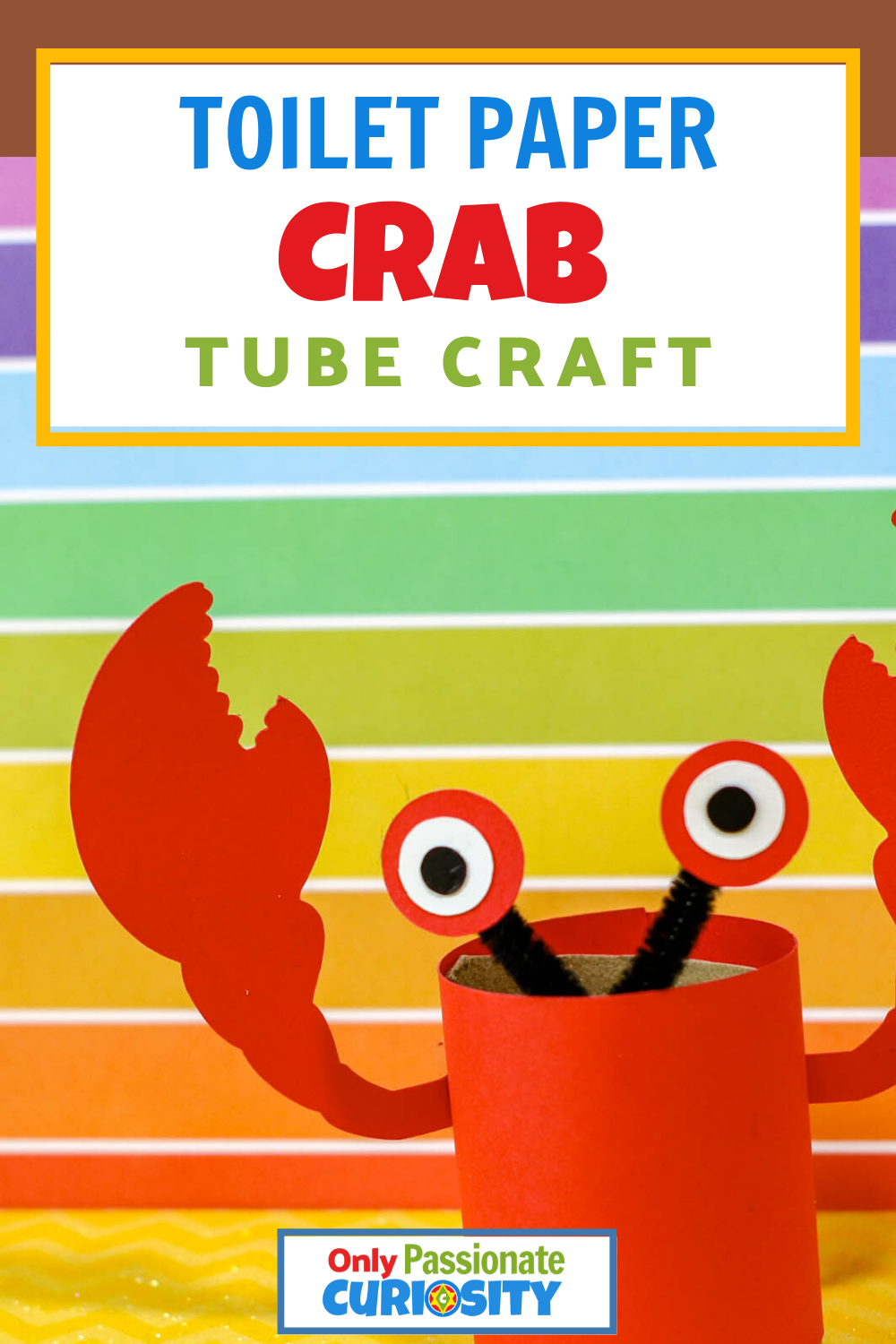Crab Toilet Paper Tube Craft - Only Passionate Curiosity -6517