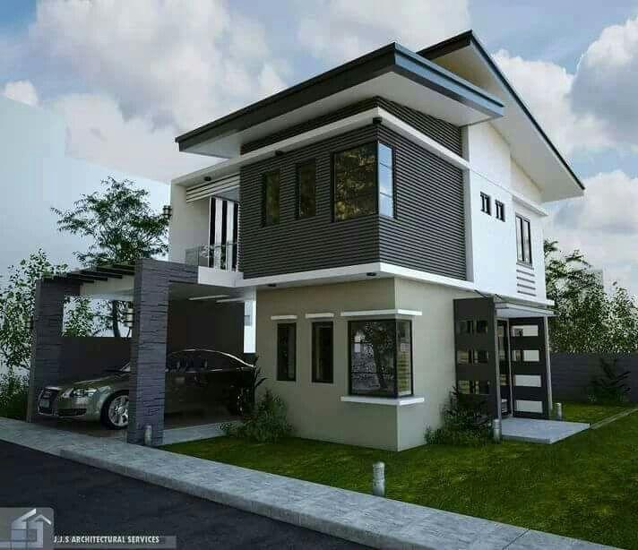 Modern Residential Exterior By Ar Sagar Morkhade: 「外観*外構*庭*ガレージ*自転車*表札」おしゃれまとめの人気アイデア|Pinterest |くま