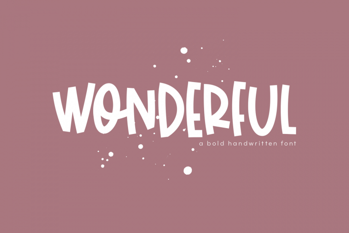 Wonderful A Bold Handwritten Font Bold fonts, Bold