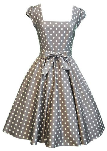 7216494518 Lady Vintage Swing Dress in 22 Different Prints 50s Rockabilly Retro Size 8  22