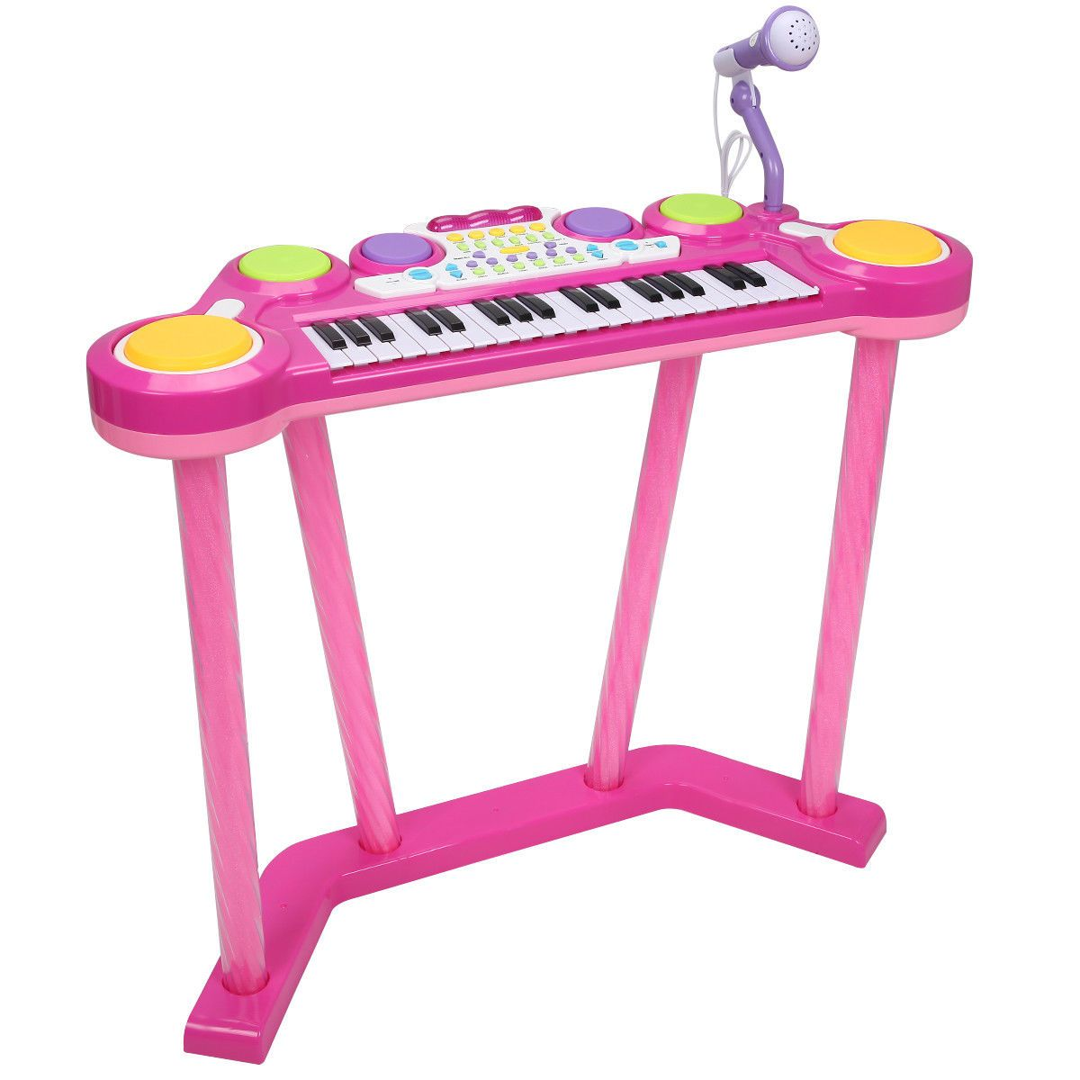 Kids Piano Toy Electronic Keyboard Music Instruments with Microphone 37 Keys