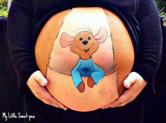 10 ideas creativas para pintar tu barriga durante el embarazo