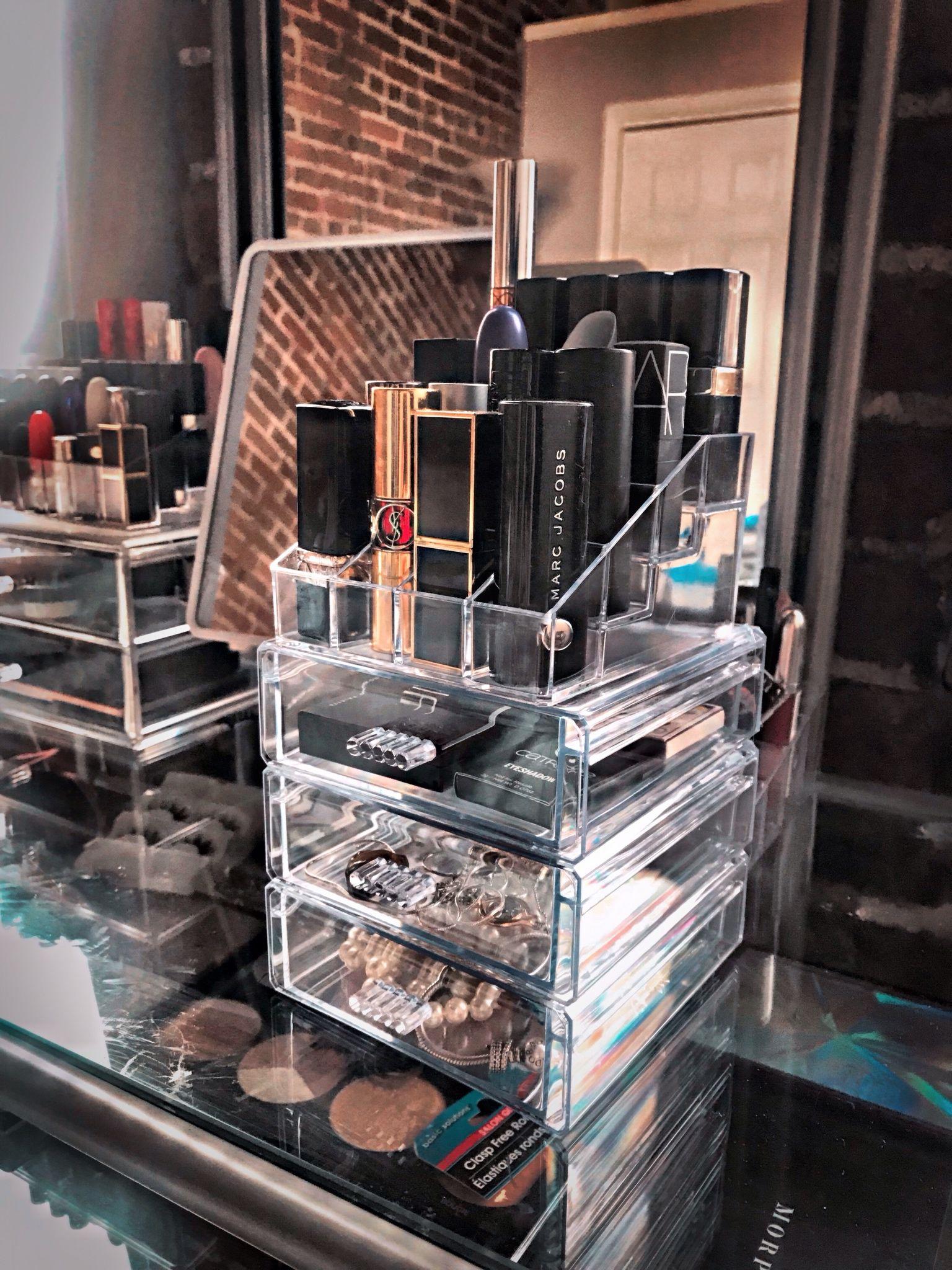 DIY 4 makeup organizer from Dollar Tree. (QuickCrafter