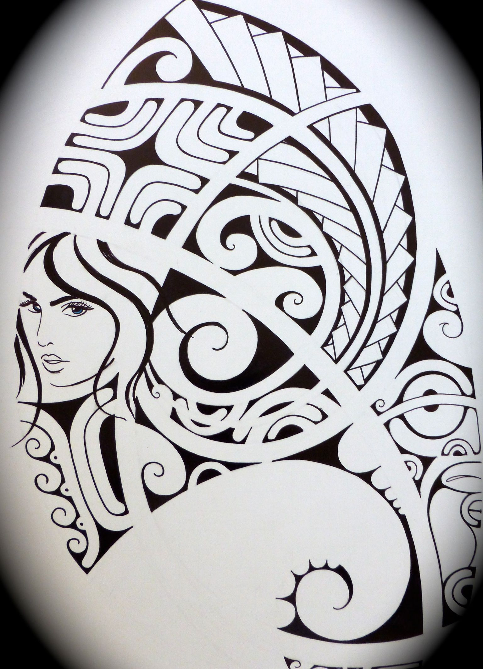 4aae209e4 Polynesian tattoo drawing | tattoo drawings | Hawaiian tattoo ...
