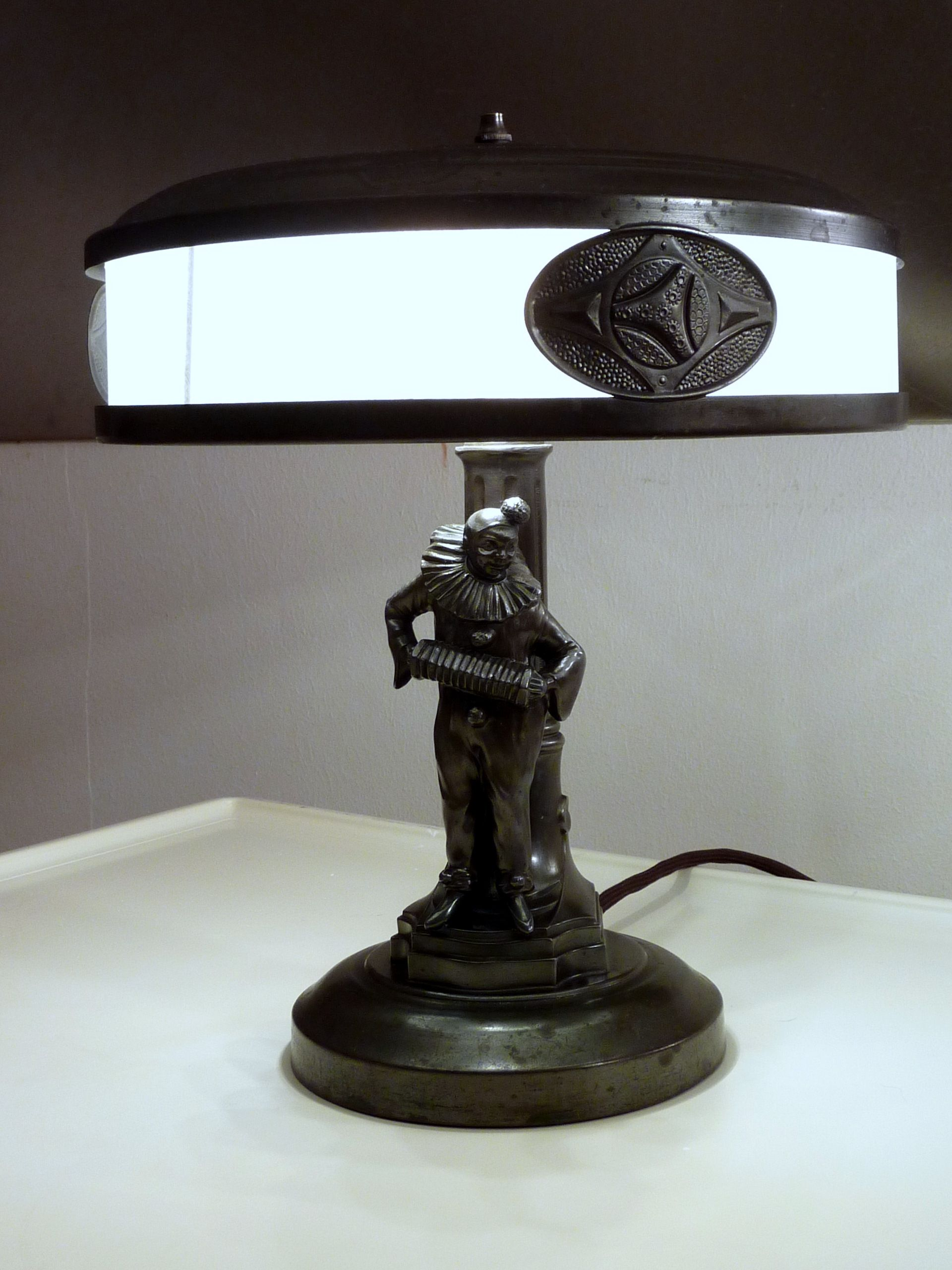 Bodenlampe Innen Original Desk Lamp With Harlequin Figure From The 20s 30s