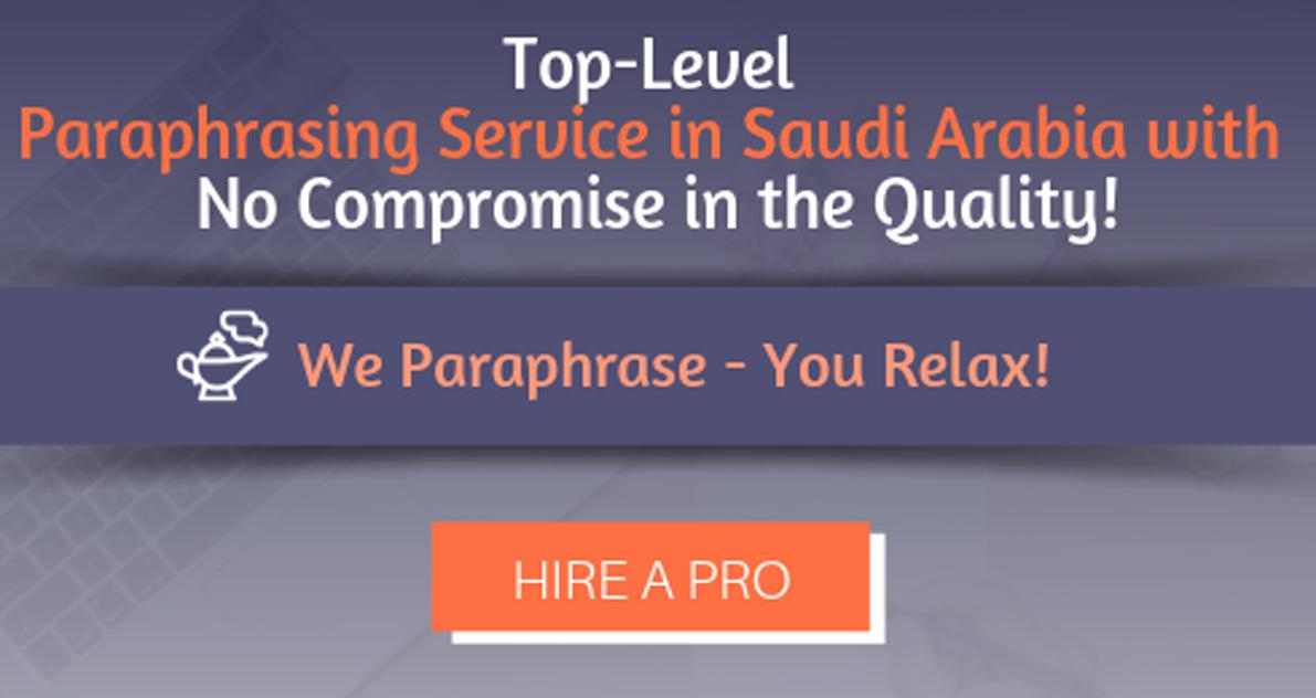 Paraphrasing Service Saudi Arabia Paraphrase Plagiarism Free