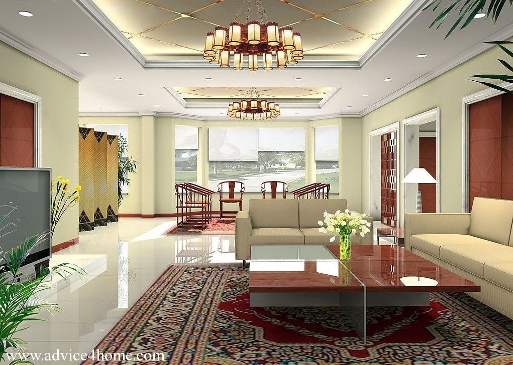 pop design for living room 2016 latest white pop ceiling design and sofa set in living - Home Ceilings Designs