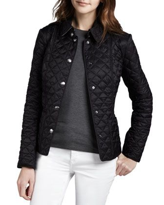 9562729c7ae Heritage Quilted Jacket by Burberry Brit at Neiman Marcus.   Fashion ...