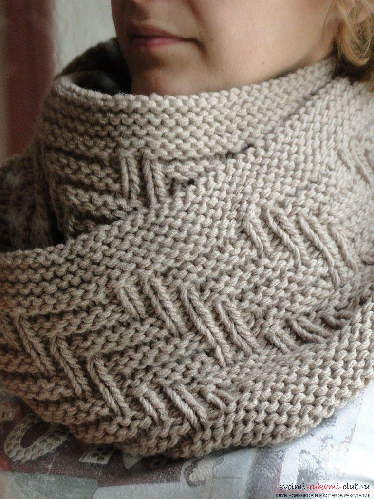 Вязанные шарфы снуды своими руками