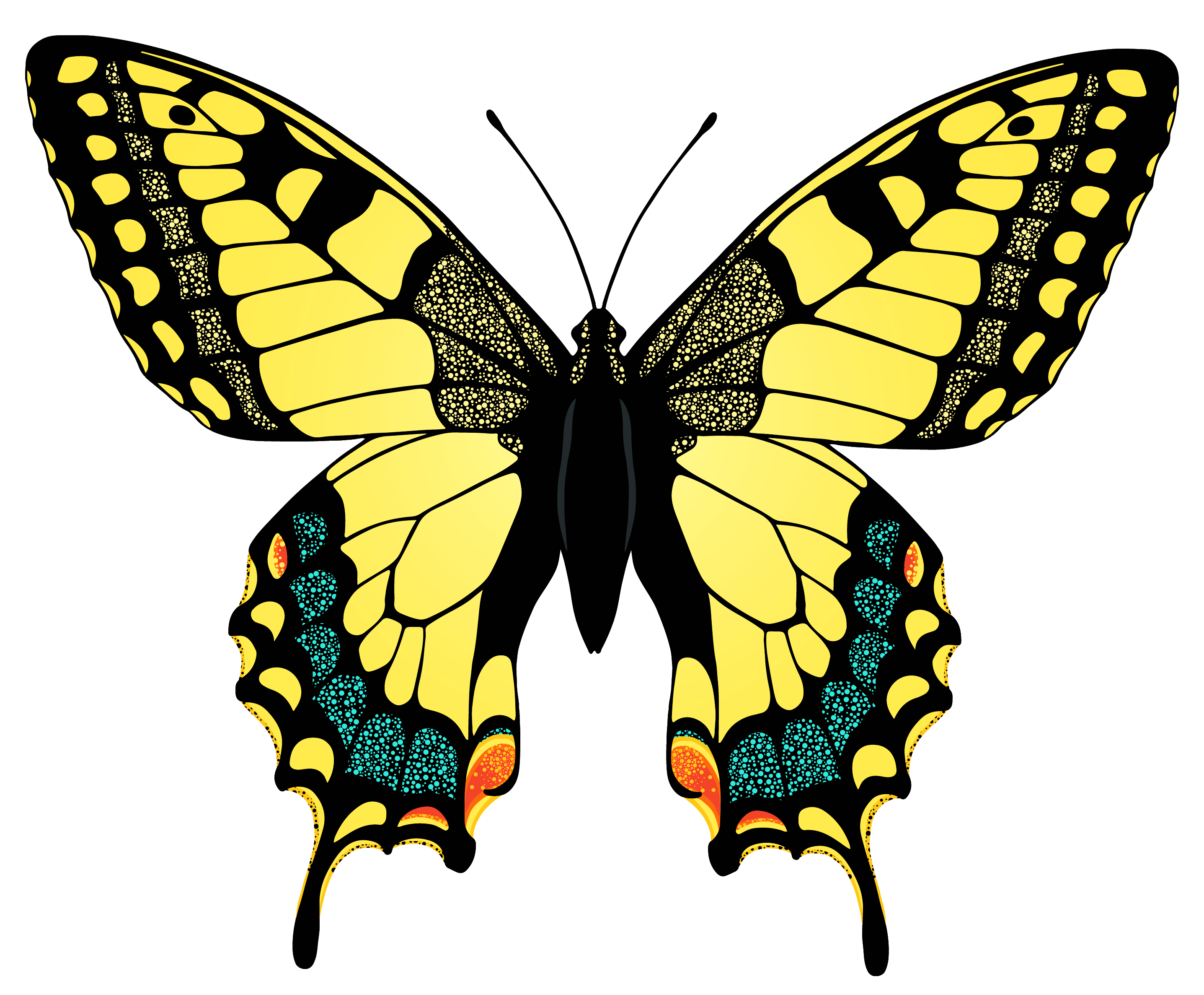 Yellow Butterfly Png Image Butterfly Pictures Butterfly Illustration Yellow Butterfly
