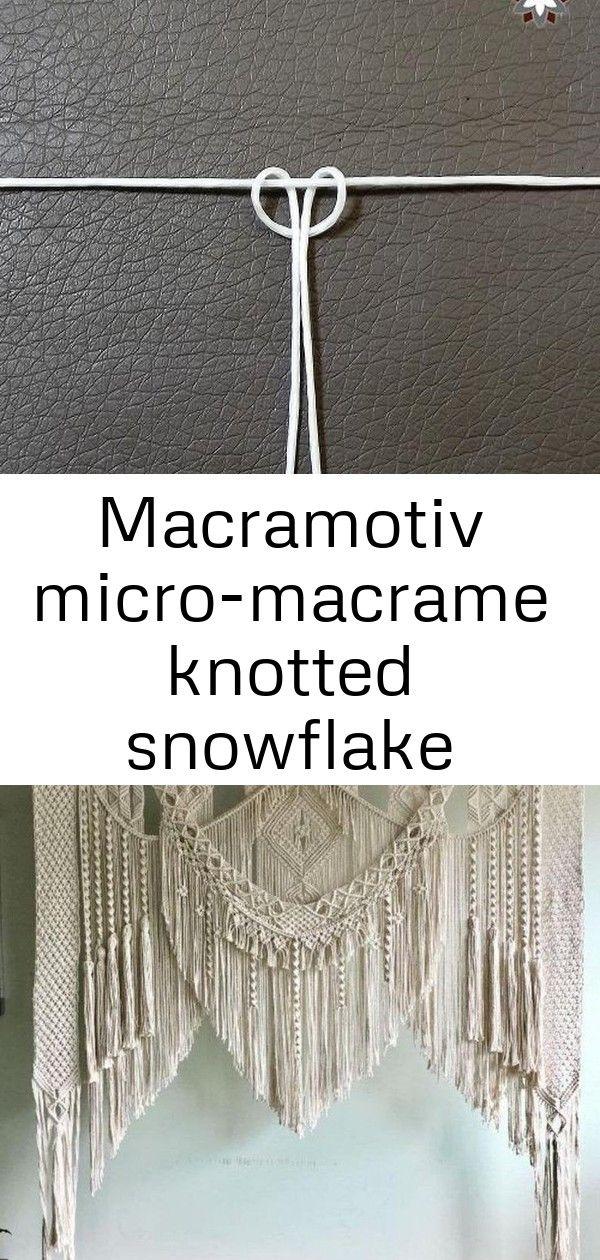 Macramotiv micro-macrame knotted snowflake macramotiv.com how to knotting snowflake ornament migr 98 #hangersnowflake