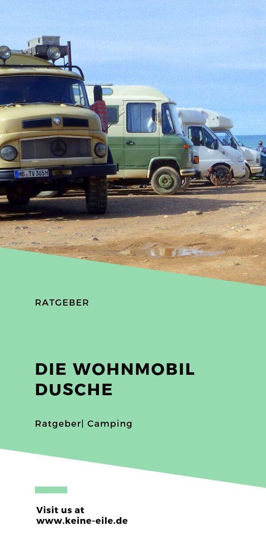 Die Wohnmobil Dusche Wohnmobil, Campingreise, Wohnmobil