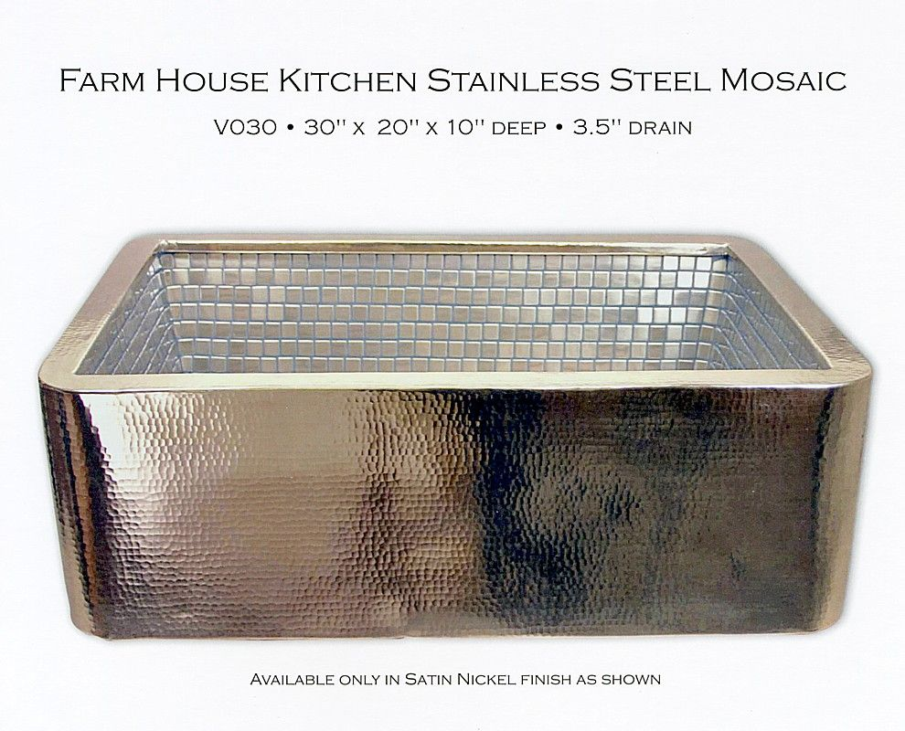 Lovely Farm House Kitchen Stainless Steel Mosaic 990×800 Pixels