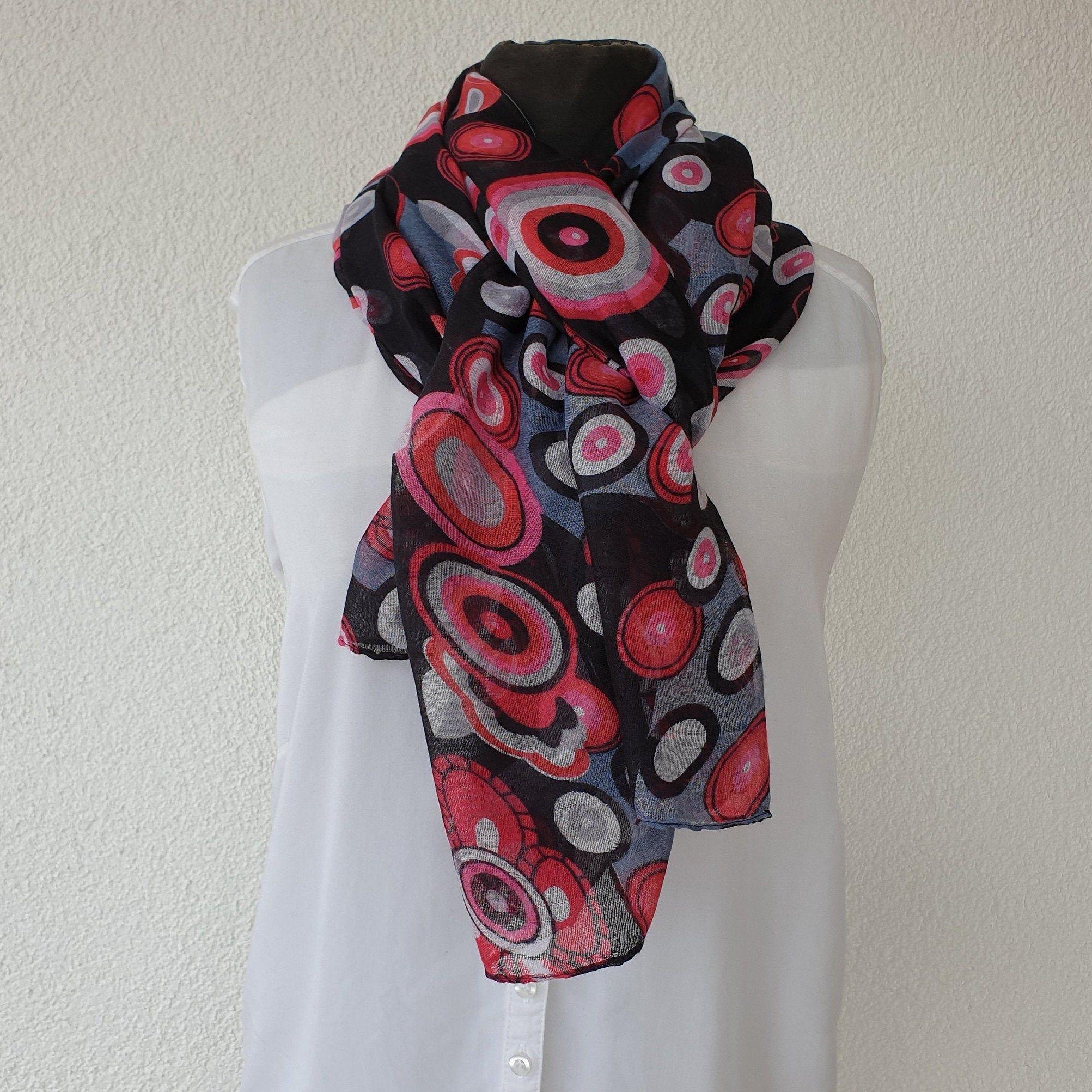 Evil Eye Cotton Scarf, Soft shawl,Cowl, Oversized Wrap
