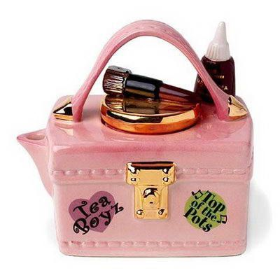 Pink Makeup Bag Teapot