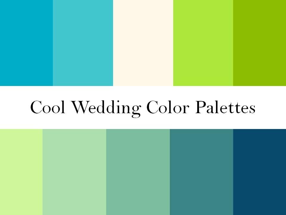 Blues Wedding Palette Cool Wedding Colors Green Blue