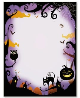 Halloween Border Papers | Halloween Clipart and Invitation Ideas ...