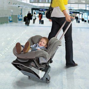This Roll 'n Go car seat transporter fits most convertible and ...