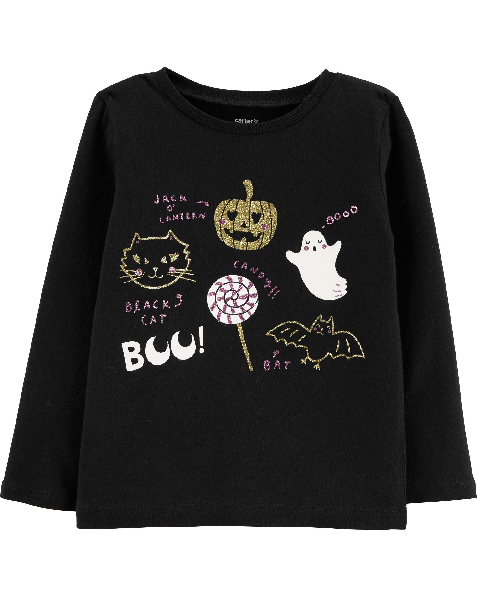 Childrens Halloween Pumpkin ComfortSoft Long Sleeve Tee