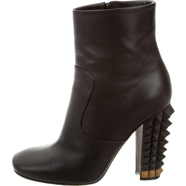 Pre-owned - Leather ankle boots Fendi H5Sh77pm