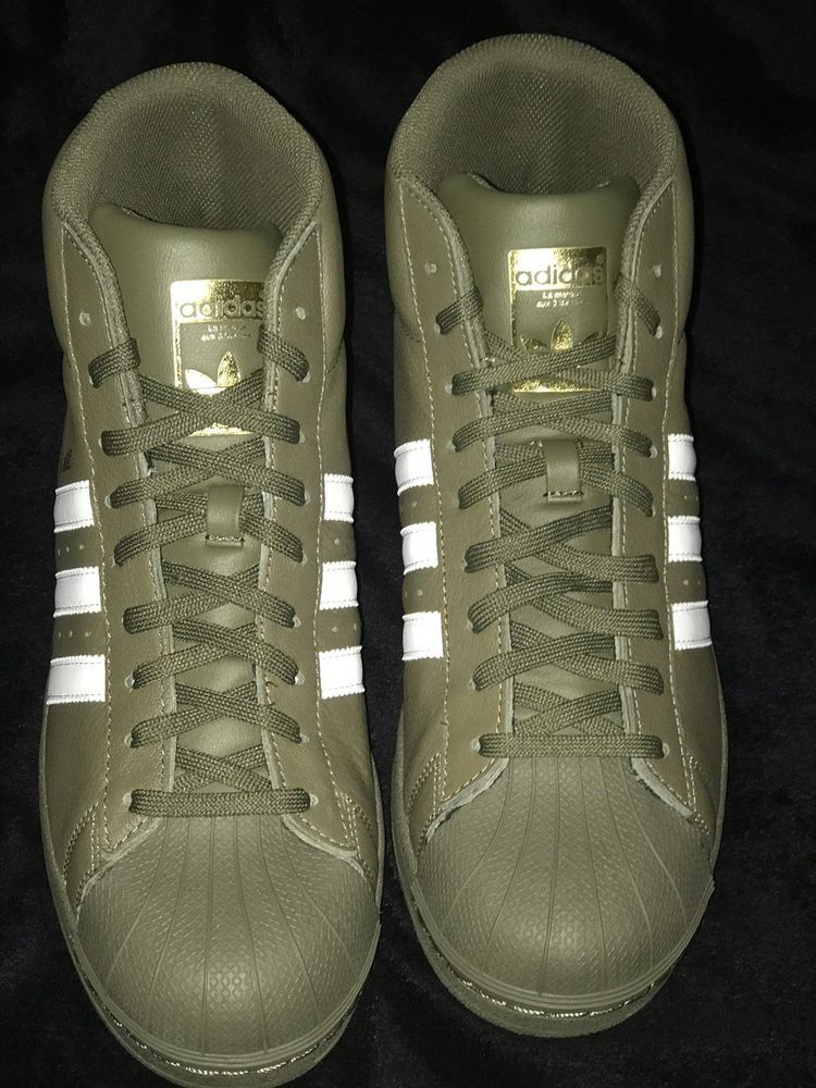 arrives c2dae daea4 Adidas Pro Model Mens Sneakers Size 11 Olive Green High Top  fashion  clothing   shoes  accessories  mensshoes  athleticshoes (ebay link)
