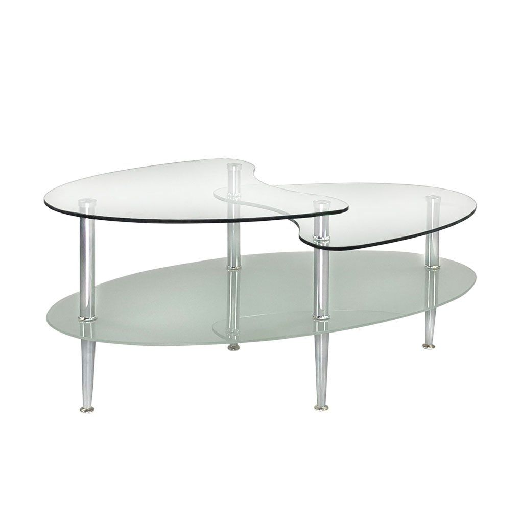 Kennynelvis 35 5 3tier Wave Dual Oval Coffee Table Type B Powder Coating Tempered Glass Chrome To See Even More For Thi Coffee Table Oval Coffee Tables Table [ 1020 x 1020 Pixel ]