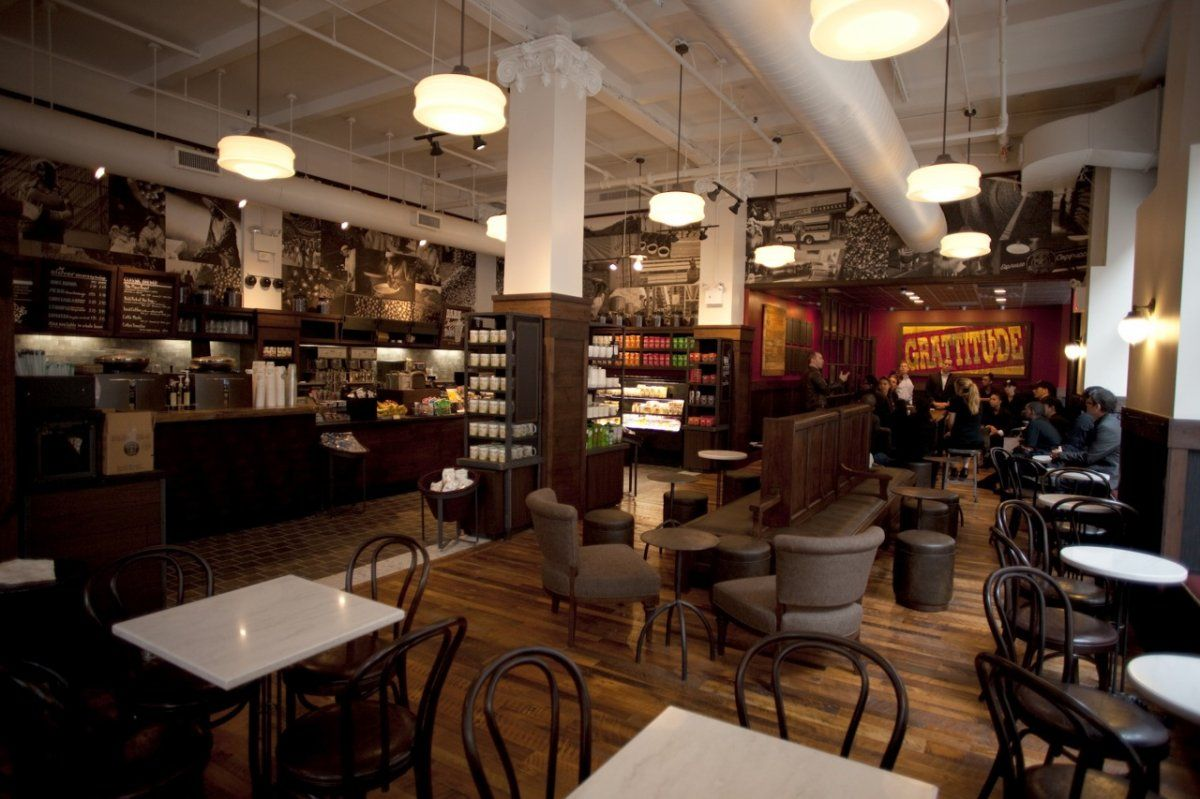 Elegant Warm Starbucks Cofee Interior Design with Beautiful ...