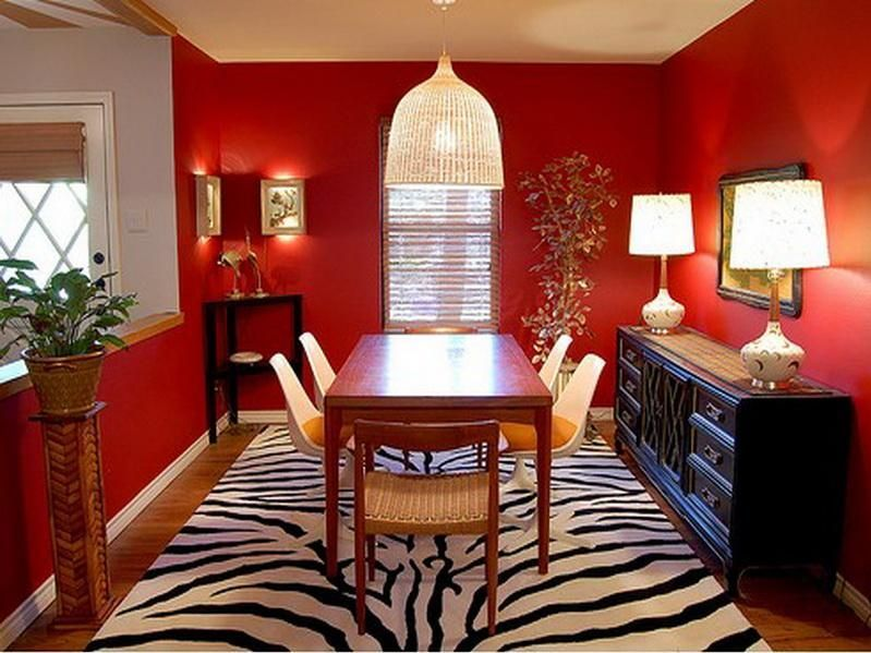 Red Mediterranean Interior Google Search Red Dining Room