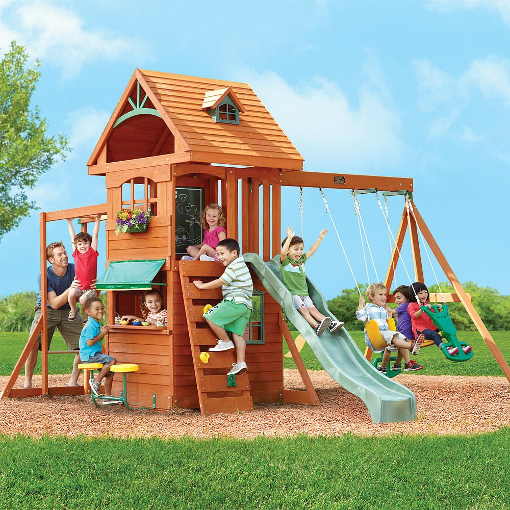ridgeview clubhouse deluxe big backyard toys