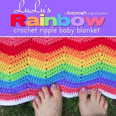 Lulu Crochet Rainbow Blanket [Free Pattern   Pinterest ...