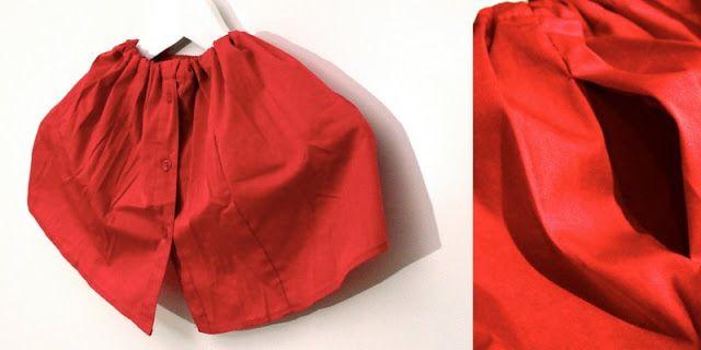 Mädchenrock aus Omas Bluse