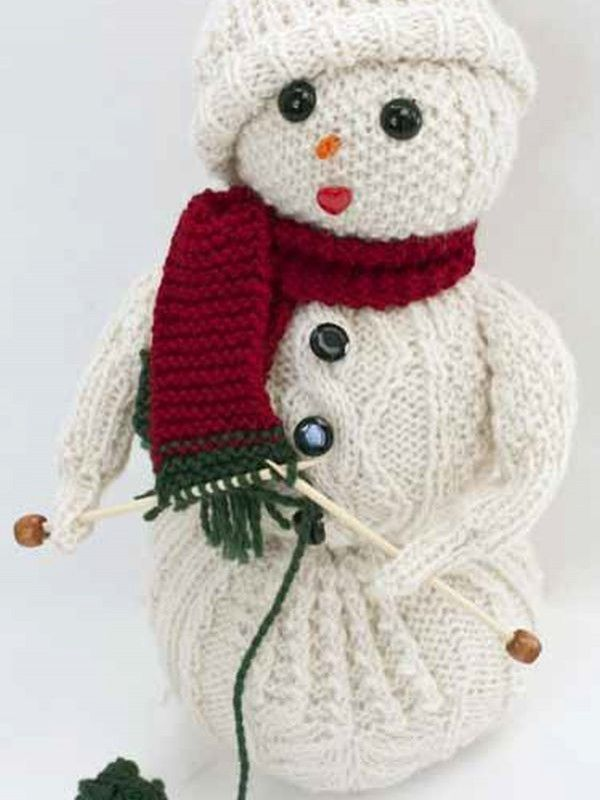 Free Snowman knitting pattern: download it at Laughing Hens ...