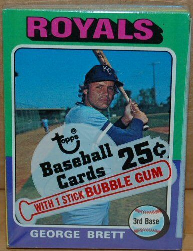 1975 Topps Cello Pack George Brett Rookie Card On Top