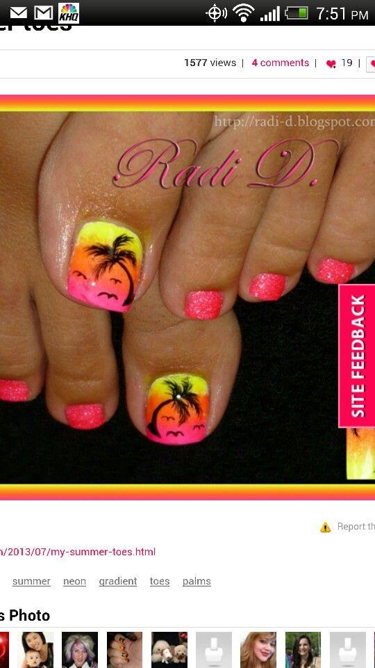 Hawaii Nails! | Crystal | Pinterest | Hawaii nails, Hawaii ...