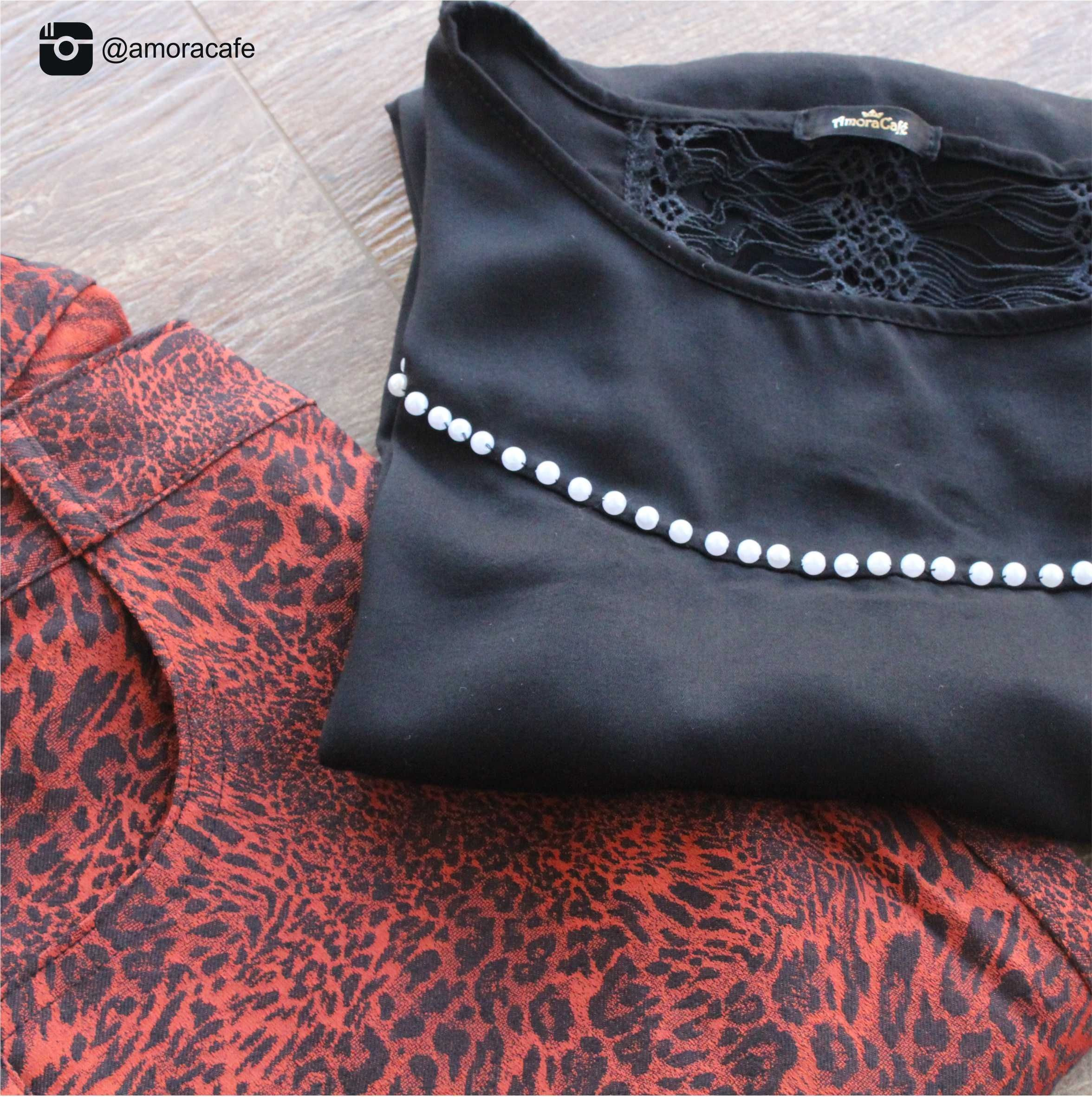 Blusa preta +  calça de bicho!