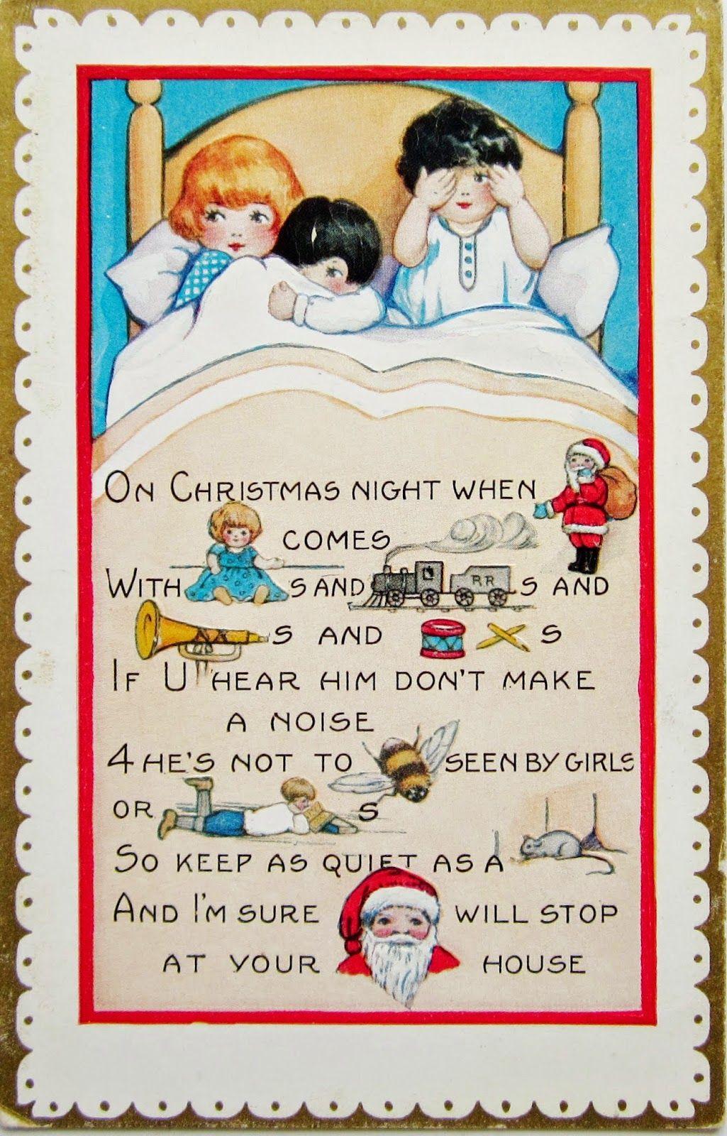 postcardiva postcard blog Whitney REBUS CHRISTMAS