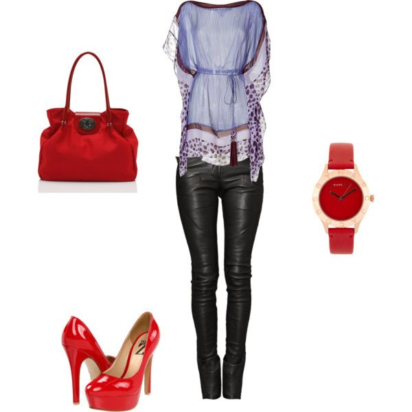 Purple / Red, created by syd-spektor on Polyvore