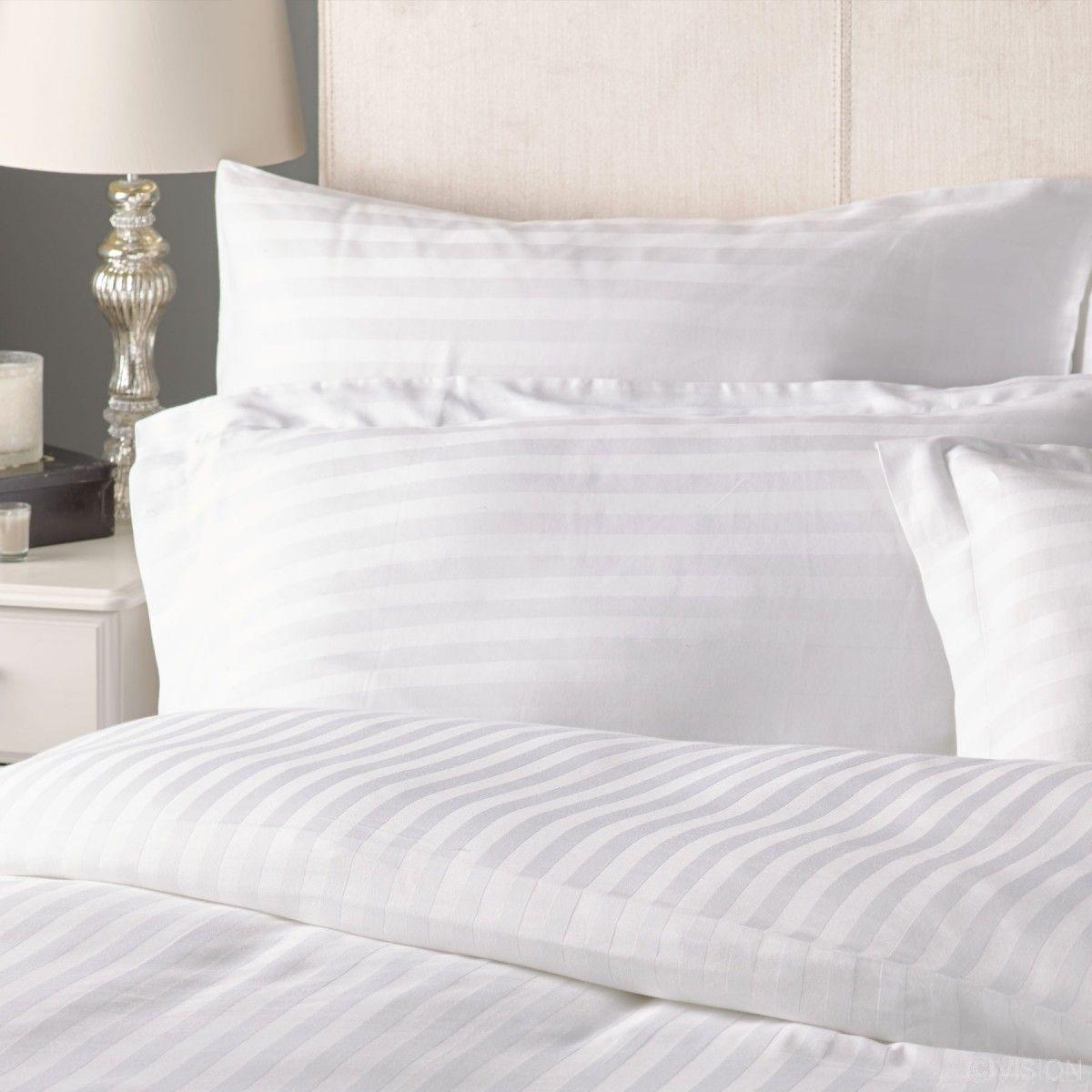 Cotton 0.4cm Sateen Stripe Pillowcase