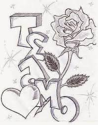 Resultado De Imagen Para Dibujos De Amor A Lapiz Faciles De Copiar Dibujos Romanticos Sencillos Te Amo Dibujo Graffitis De Amor