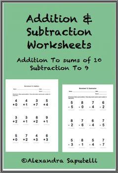 Autism Class. Subtraction WorksheetsMath Addition ...